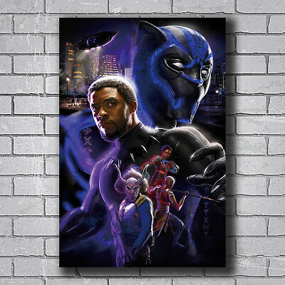 """Black Panther Group One Sheet Wall Poster 22.375/"""" x 34/"""" Marvel Comics Cast MCU"""
