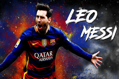 Art Poster Lionel Messi Football King Barcelona Soccer Top 14x21 24x36 Hot Y2033