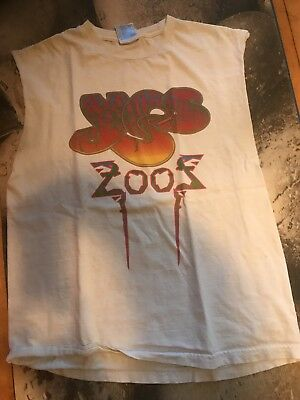 Yes Roger Dean 2002 Tour Tee Shirt Squire Howe Sleeveless Large