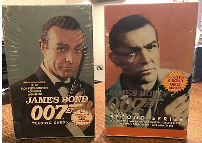 James Bond 007 ECLIPSE Series 1 and 2 Trading Cards Boxes - Sealed FREE SHIPPING