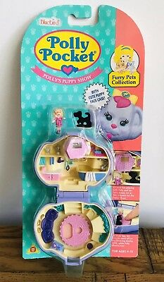 POLLY POCKET Vintage Furry Pets Pollys Puppy Show Dog Compact Complete MOC 1993