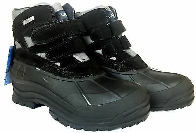 LABO Men's Leather Winter Snow Boots Waterproof Shoes 105 (wide)