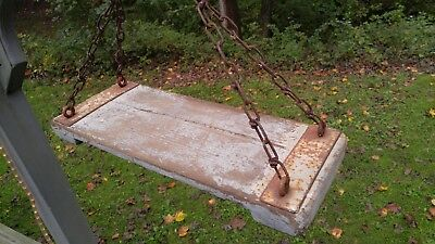 Vintage OLD WOOD Playground Swing Seat Antique Primitive Americana Garden Hang