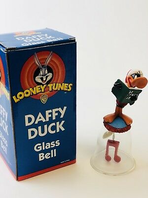 WB Looney Tunes Daffy Duck Glass Christmas Bell #05244