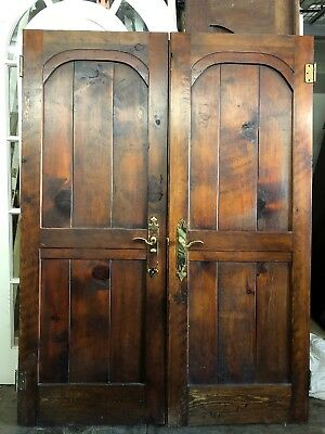 Spanish Mediterranean Wood French Doors Privacy Doors 76 X 28 1/2 Each 57 Total