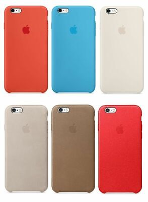 New - Authentic - Apple - Silicone / Leather - Case for iPhone 6 Plus / 6S Plus