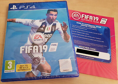 FIFA 19 with Ultimate team code - PS4 - Brand New & Sealed - PlayStation 4