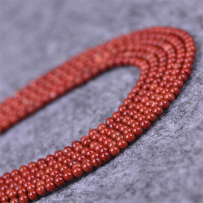 1pcs 4MM red agate Gemstone Loose bead 15 inches Spacer ELEMENTS Round Healing