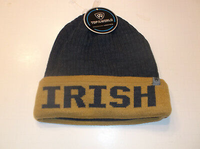 new product 88873 1434f Notre Dame Fighting Irish Top of the World Beanie