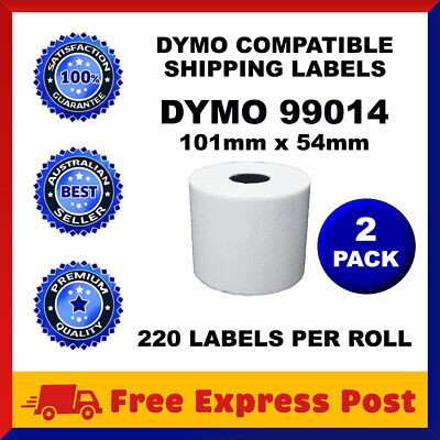 2 Rolls SD99014 Compatible Dymo Label 99014 Shipping Address Labels 54mm x 101mm