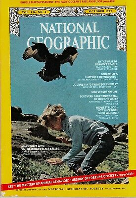 National Geographic October 1969 NO MAP***SEE BELOW FOR ADVERTISING LIST********
