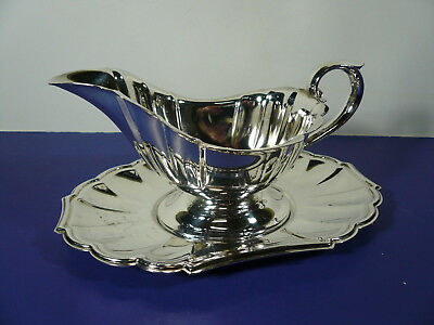 Gorham Heritage Gravy Boat & Saucer EP Silver Plated
