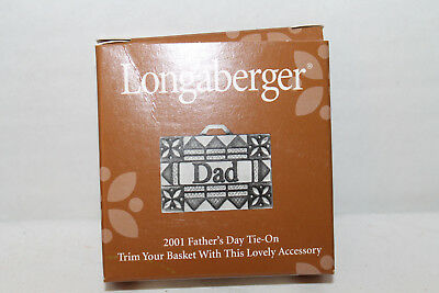 New Longaberger 2001 Father's Day Tie-On,  With Box