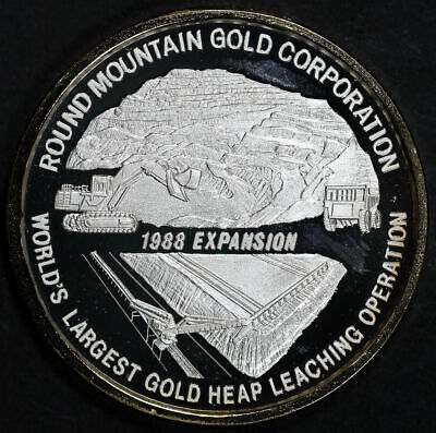 Echo Bay Mines Nevada Operations Round Mountain Gold Gilded 1 oz Fine Silver