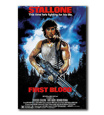 Art Poster 24x36 27x40 FIRST BLOOD Movie Stallone Rambo T-961