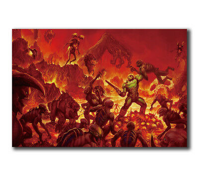 T-136 Art Poster The Ultimate DOOM 4 Game Hot Silk 24x36 27x40IN