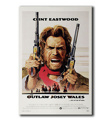 T-442 Art Poster CLINT EASTWOOD the OUTLAW JOSEY WALES Classic WESTERN Hot