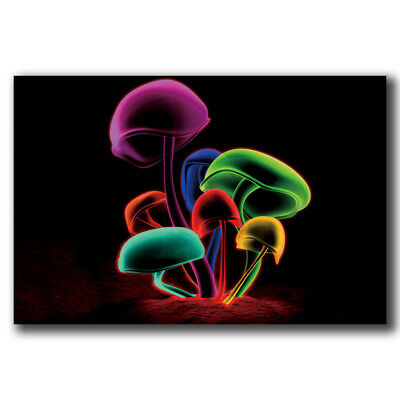 Psychedelic Trippy Magic Mushroom Abstract Custom Poster Print Art Decor T-887