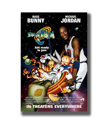 SPACE JAM MOVIE 1 Sided ORIGINAL Rolled Ver C MICHAEL JORDAN Fabric Poster TY823