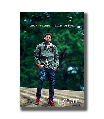 J Cole 2014 Forest Hills Drive Custom Singer Star Fabric Poster Art TY659 24x36