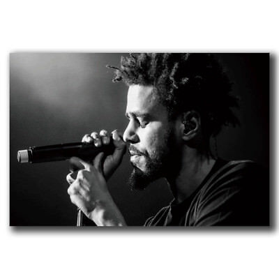 ZT050 Custom J Cole Rap Music Singer Star Hip Hop Rapper Art Poster Decoration