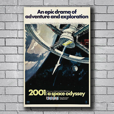 New Classic Movie 2001 A SPACE ODYSSEY Custom Poster Print Art Decor T-251