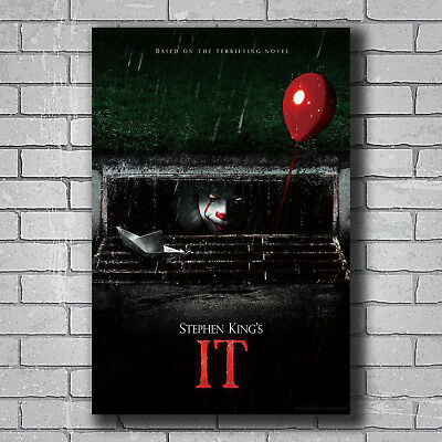 New 2017 IT Movie Stephen King Pennywise Custom Poster Print Art Decor T-326