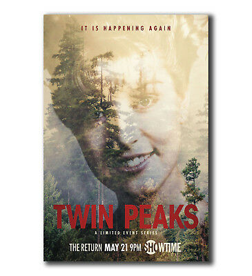 2017 NEW TV Series Twin Peaks Art Silk Canvas Poster 13x20 24x36/'/'