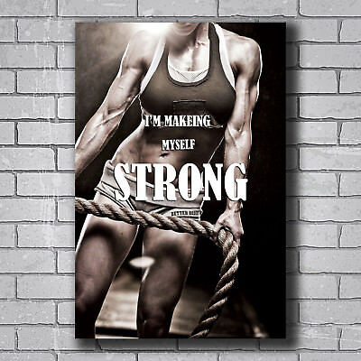 "Bodybuilding Fitness Motivational Quote Silk Poster 13x24 24x43"" Gym Decor BD19"