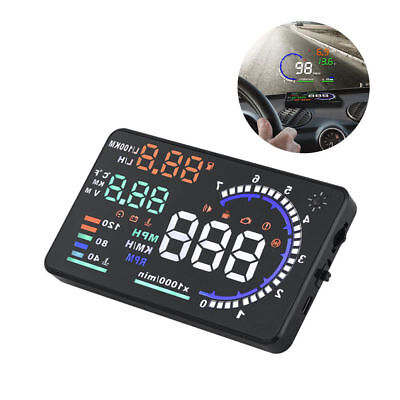 "5.5"" A8 Car HUD Head Up Display Speedometer Speeding Warning High Definition"