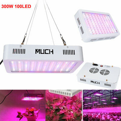 300W LED Grow Light Hydro Full Spectrum Veg Flower Bloom Indoor Plant Lamp Panel
