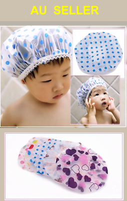 2PCS Child Kids Baby Infant Waterproof Shower Bathing Cap Washing Hair Hat Cover