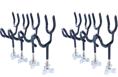 8 Pack Sure Grip Fishing Rod Pole Rest Universal Boat Dock Wire Rod Holder 20Deg