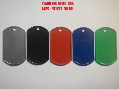 Personalized Custom Stainless Steel Military ID -  PET TAGS, DOG TAG, CAT, HORSE