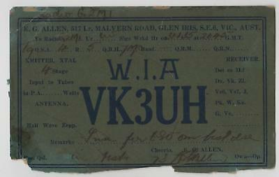Lot of 4 RATTY OLD VINTAGE QSL HAM RADIO CARDS 1930's - FADED & EDGES NIBBLED