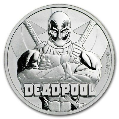 2018 Silver 1 oz Tuvalu $1 Marvel Series Deadpool BU
