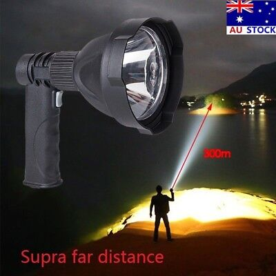 LED Spotlight Handheld Camping Rechargeable Torch Hunting Fishing Spot Light