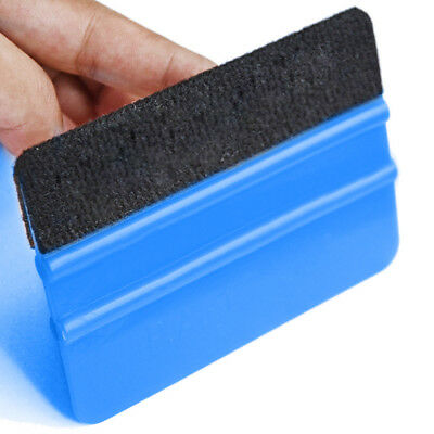 sale Car Film Wrapping Tool Blue Scraper Squeegee W/Felt Edge Styling Sticker