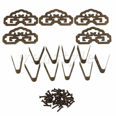 5PCS Old Chinese Style Bronze Picture Painting Frame Hanger Hanging Hook CYJ020