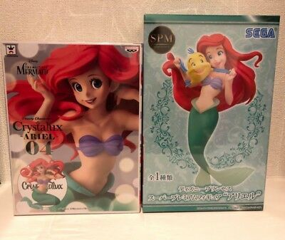 Little Mermaid ARIEL Disney Princess super premium figure & Crystalux series JP