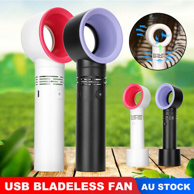 Mini Wireless Portable Bladeless Cooling Cooler Fan USB Handheld Rechargeable
