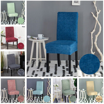 Stretch Fabric Chair Cover Dining Room Wedding Kitchen Home Chair Seat Covers