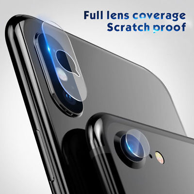 For iPhone X XS MAX XR 7 8 Plus Phone Camera Lens Protector Rear Tempered Glass