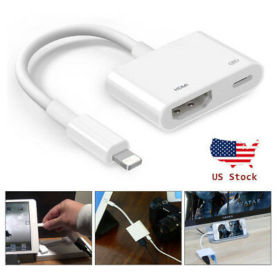 1080P Lightning To HDMI Digital AV TV Cable Adapter For iPad iPhone Xs Xr X 6 7