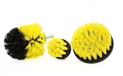 3pz / Set Tile Grout Power Scrubber Pulizia Drill Spazzola Tub Cleaner Combo