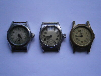 Job lot of vintage gents small watches mechanical watches spares or repair