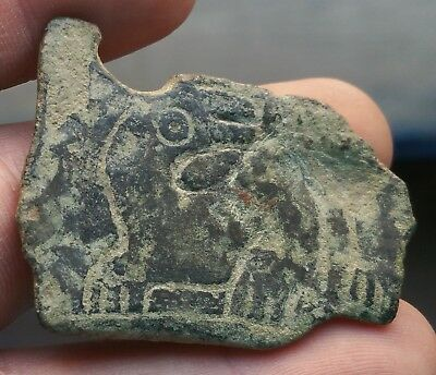 BROKEN FRAGMENT PHENICIA PHOENICIAN BUCKLE WITH DECORATION SPHINX 41x28mm BB2039