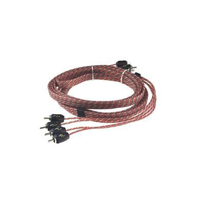 Stinger SI4412 12ft 3.7m 4000 Series 4 Channel Car RCA Amp Cable Lead
