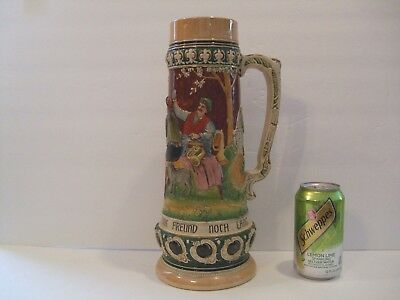 Large Antique/Vintage German Stein 13.5""