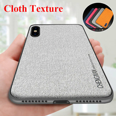 Soft TPU Fabric Case Magnetic Shockproof Cover For iPhone XS Max XR X 8 7 6 Plus